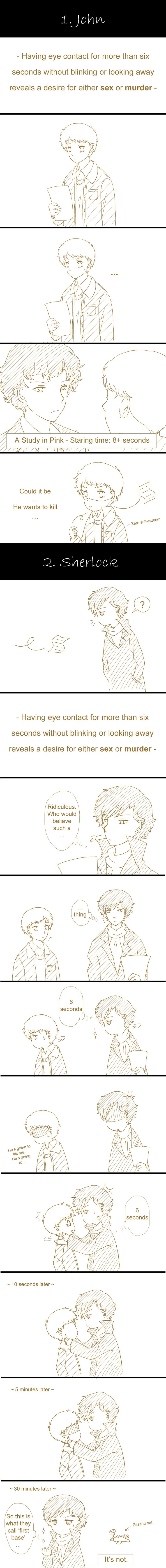 """Eye contact"""""""" even if you don't like johnlock its too cute♥"""