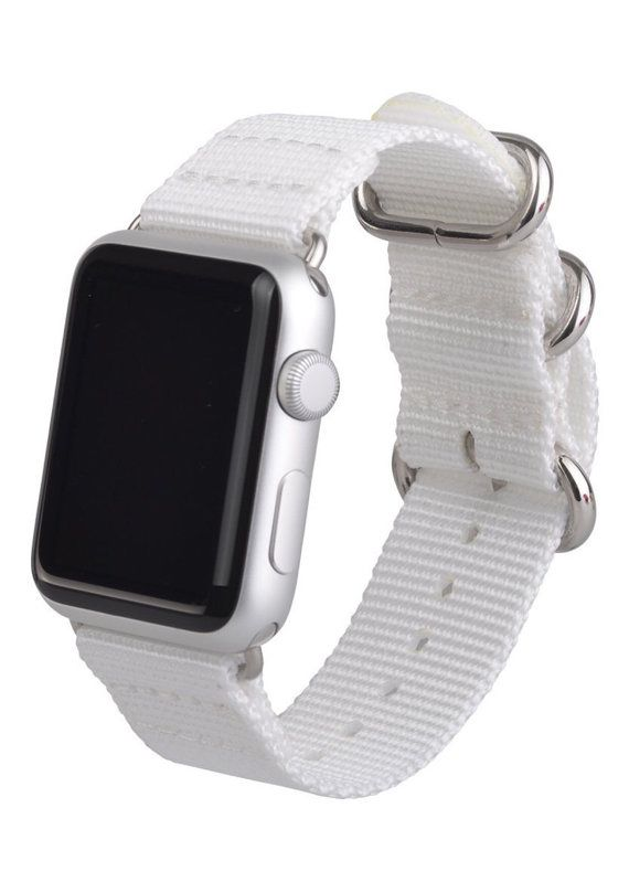 White 38mm Apple Watch Band, Woven Fabric Apple Watch Band, Apple Watch Band, Apple Watch  Strap, Apple Watch Single Tour, Nylon