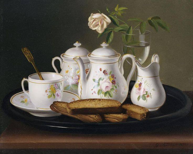 Still Life of Porcelain and Biscuits by George Forster