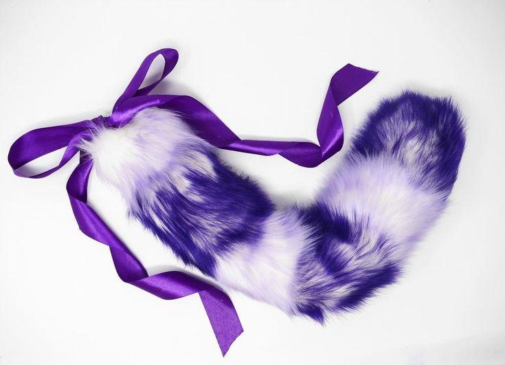 Striped Lilac & Purple Ombre Kitten Play Tail – Kittens & Kink