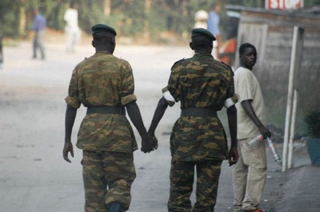 Very common to see best friends hold hands in Africa