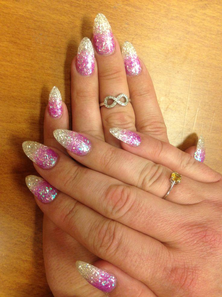 Diamond fading at Nail art, Nails, Diamond