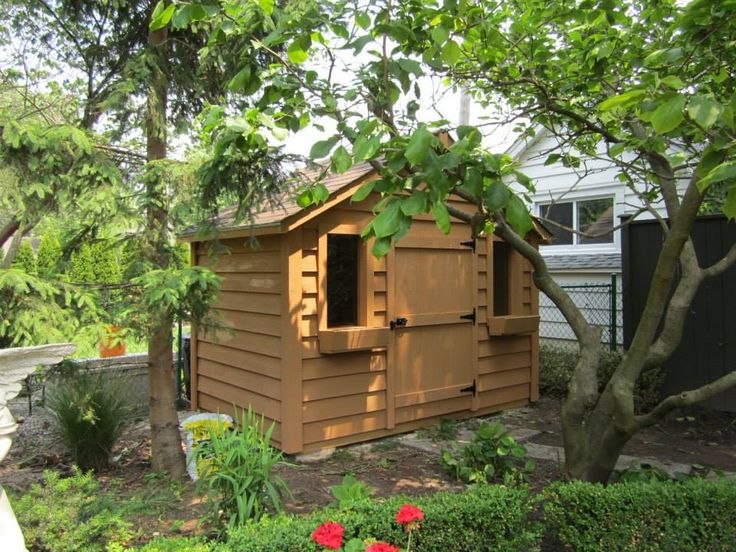 beautifully placed 10x6 high classic garden shed