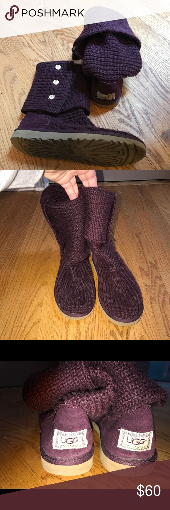 Magenta Ugg Cardy Boots Great condition. Only visible flaw is marking on back if heel. Would come out with a little scrub. Only selling because my feet shrunk after my son was born. UGG Shoes