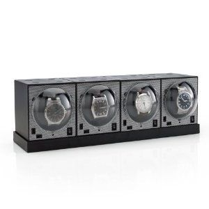 Set of 4 Brick Watch Winders with Power Base Brookstone. $199.99