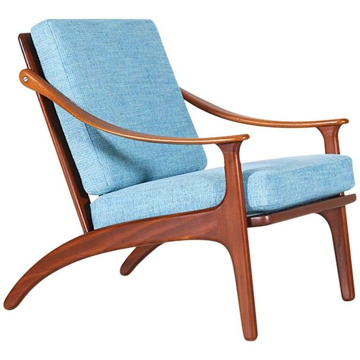 Arne Hovmand-Olsen Teak Lounge Chair for Mogens Kold | From a unique collection of antique and modern lounge chairs at https://www.1stdibs.com/furniture/seating/lounge-chairs/