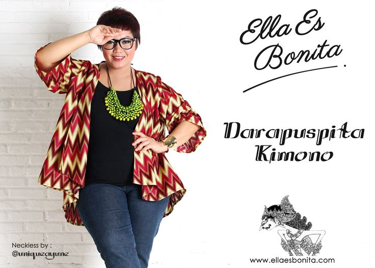 Darapuspita Kimono - This kimono features high quality batik cotton which specially designed for sophisticated curvy women originally made by Indonesian Designer & Local Brand: Ella Es Bonita. Available at www.ellaesbonita.com