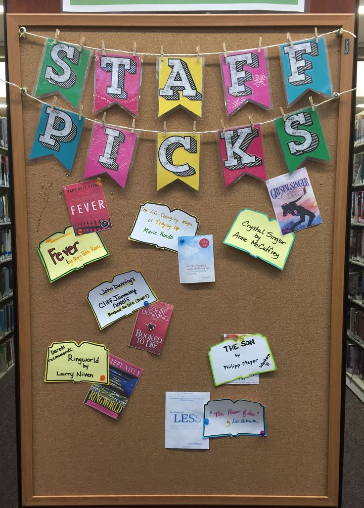 """Staff Picks"" #bookdisplay at the Paseo Verde Library in Henderson, NV."