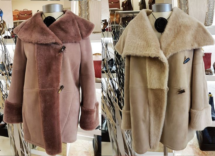 The last size shearlings, pink 44/beige 44.  Price €820,00 instead of €1.750,00.