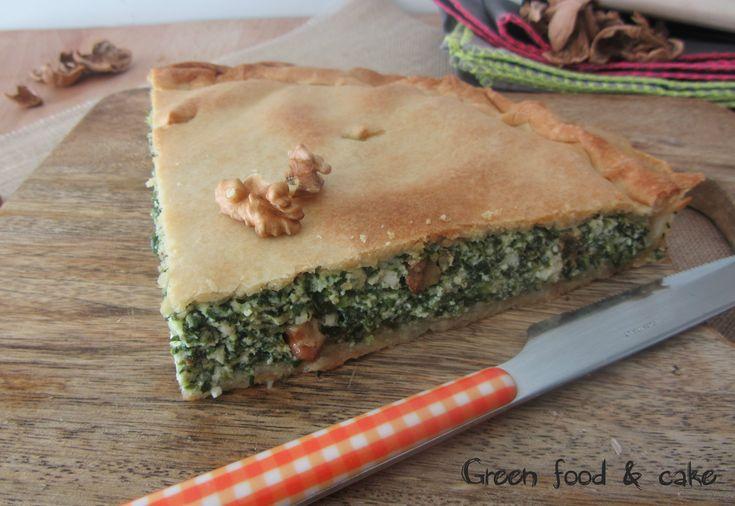 TORTA SALATA CON SPINACI E NOCI http://blog.giallozafferano.it/greenfoodandcake/torta-salata-con-spinaci-e-noci/