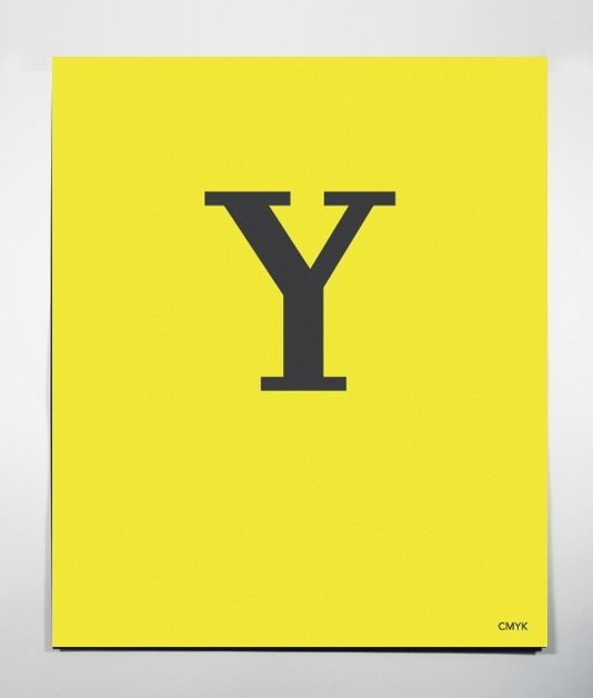 $30 Set of 4 CMYK Posters -Yellow