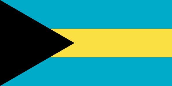 Flag of the Bahamas - Bandeiras da América do Norte – Wikipédia, a enciclopédia livre