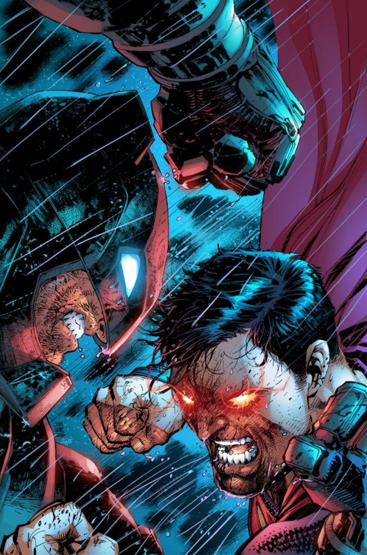 Superman Vs Batman, Jeremiah Skipper on ArtStation at https://www.artstation.com/artwork/AvrmN