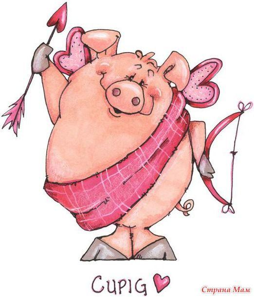 Рисунки прикольных свинок