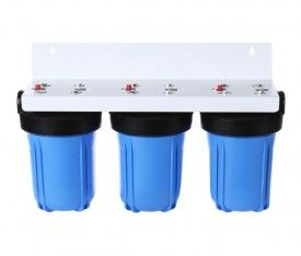 """Country Whole House Big Blue High Flow Triple 10"""" x 4.5"""" Water Filter System"""