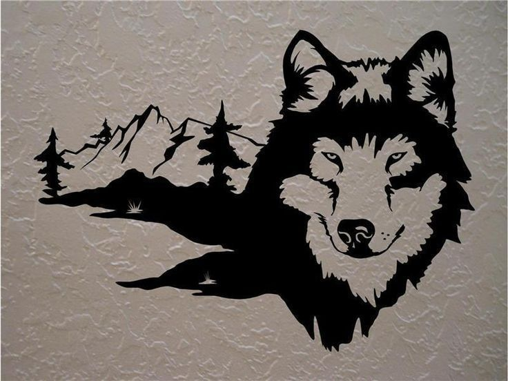 Wolf Wolves Wall Decals Mural Home Decor Vinyl Stickers Decorate Your Bedroom Man Cave Nursery Modeles Pour Scie A Chantourner Silhouette Animaux Decor Vinyle