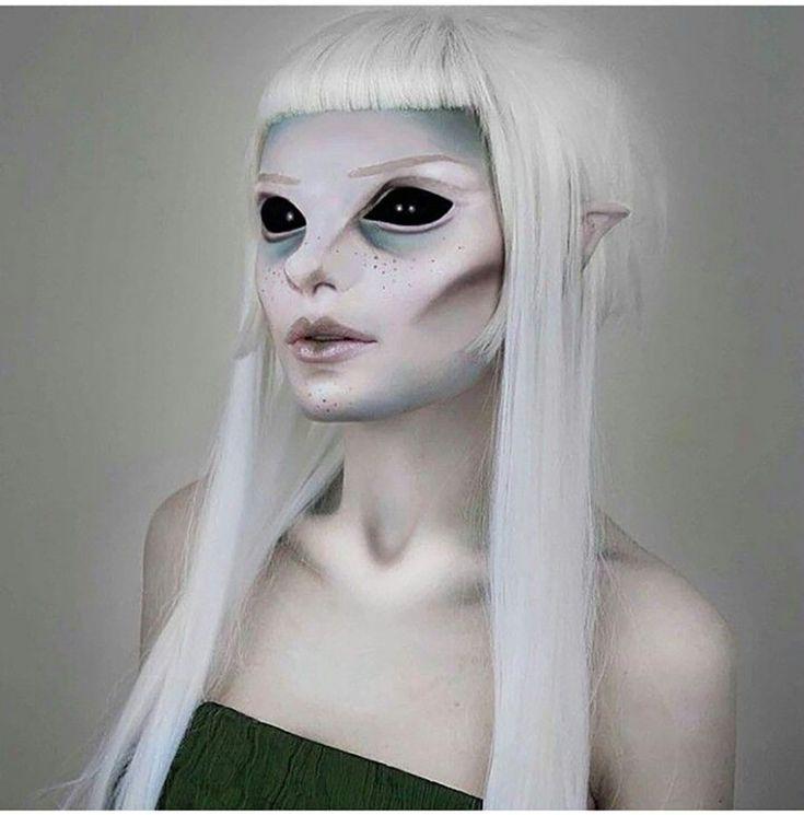 maquillaje de elfo alien