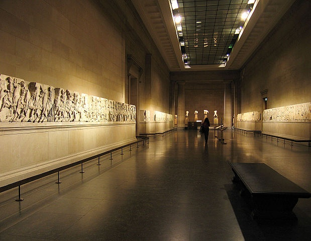 The Elgin Marbles are a collection of classical Greek marble sculptures (mostly by Phidias and his pupils), inscriptions and architectural members that originally were part of the Parthenon and other buildings on the Acropolis of Athens.