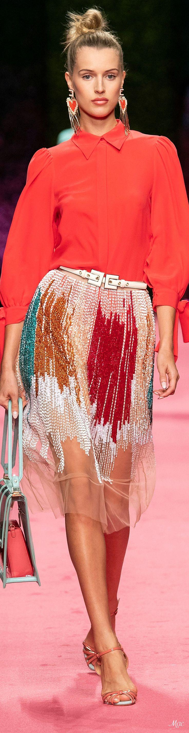 Elisabetta Franchi Spring 2019 Fashion Show #spring2019 #ss19 #womenswear #elisa…