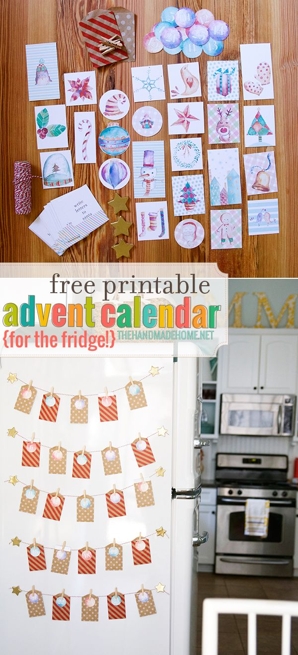 Diy Refrigerator Calendar : Free advent calendar refrigerator the handmade