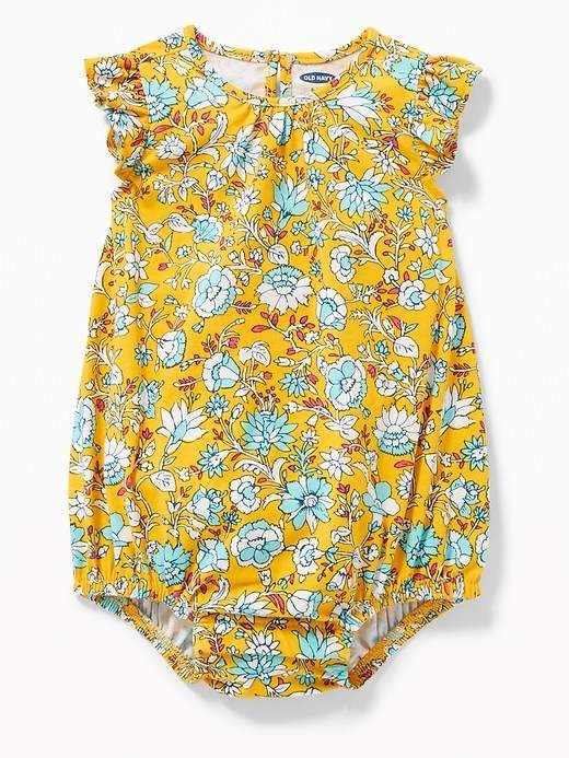 94dcb800e88 Old Navy Flutter-Sleeve Bubble Romper for Baby  babygirl
