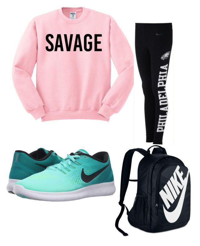 """School Outfit"" by josiasashlee on Polyvore featuring NIKE"