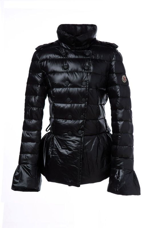 Moncler Style Double-breasted Down Jackets Black [2900427] - £167.20 : 5% off discount code: happywinter
