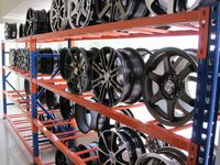 Medium Duty Storage Racking used by Wheel Supplier in Malaysia http://www.storagerack.com.my/med-duty-racking.html