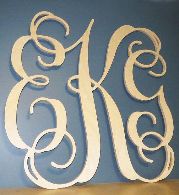 Sale Item Wooden Monogram Letters Vine Room von WoodLandCrafting