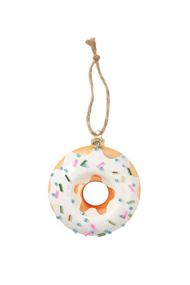 Glass ornament #typoshop #christmas #decoration #xmas #tree #diy #donut #doughnut #sprinkles