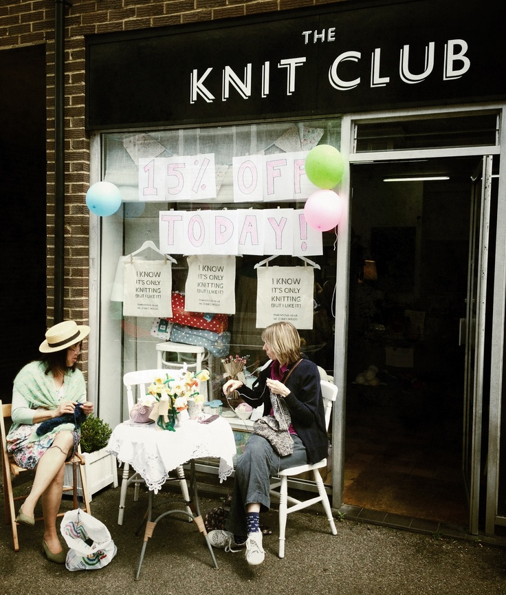 Caterham Street Party - The Knit Club Wool Shop, June '13