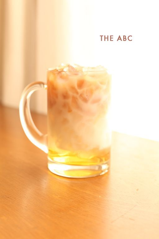 the ABC: 1 shot disaronno, 1 shot almond milk, louisiana cold brewed coffee to taste, crushed ice