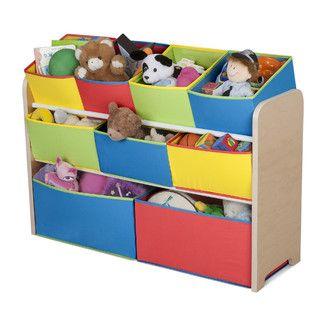 Found it at Wayfair - Delta Children Multi-Color Deluxe Toy Organizer with Binshttp://www.wayfair.com/Delta-Children-Multi-Color-Deluxe-Toy-Organizer-with-Bins-TB84752GN-DEL1445.html?refid=SBP.DfAbCgl6Yk-yBfciAqegA24Abv3-DEKUrlzO8zEmbdo