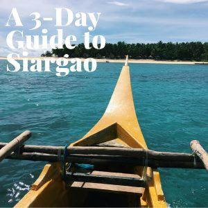 Heading to surfer's paradise in the Philippines soon? Check out my 3-Day Guide to Siargao, Philippines!