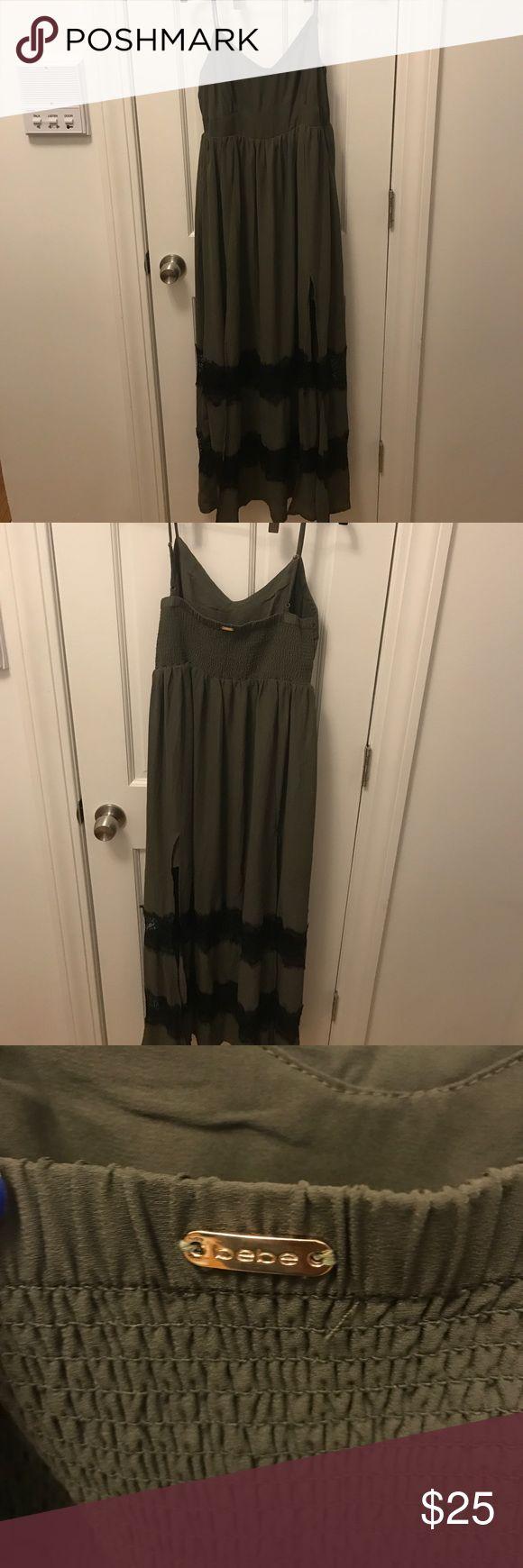 Bebe maxi dress hunter green size M Beautiful maxi dress for summer bebe Dresses Maxi