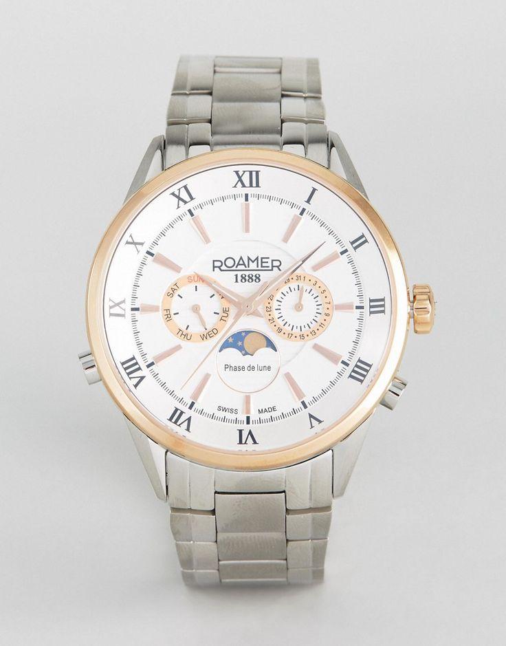Roamer Watch With Stainless Steel Bracelet - Silver