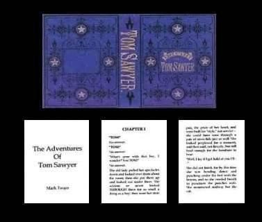 Tom Sawyer Book | Mary's Dollhouse Miniatures
