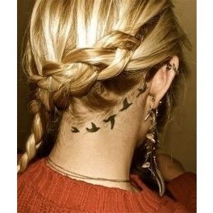 EAR Tattoo / flying bird tattoo behind the ear | SECRET: pin ...