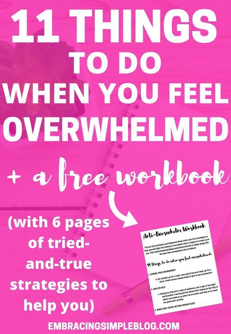 Do you often feel overwhelmed by life and don't know how to deal? Don't miss these 11 things to do when you feel overwhelmed, plus snag…