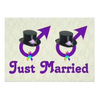 Juste mâle gai formel marié carton d'invitation  12,7 cm x 17,78 cm