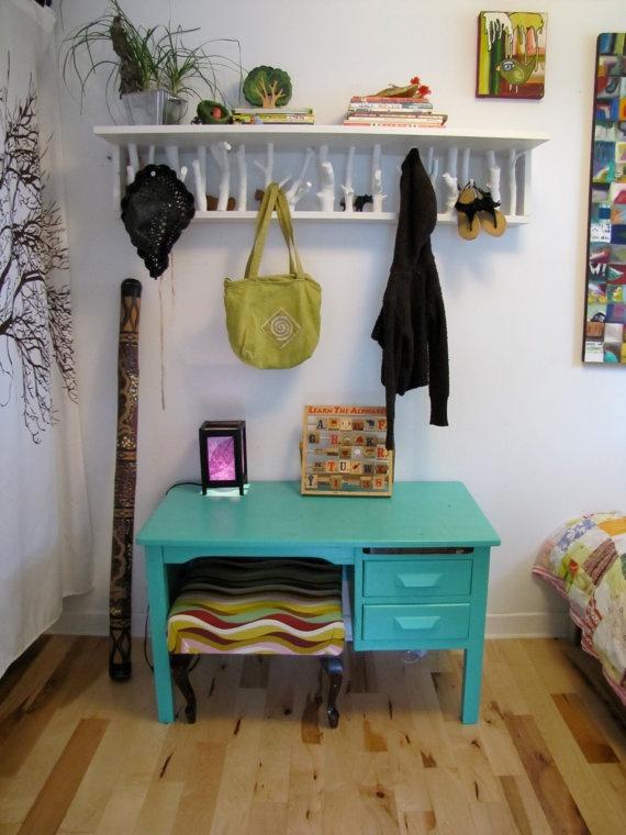 Tree Themed Book shelf/coat hook, so cute!