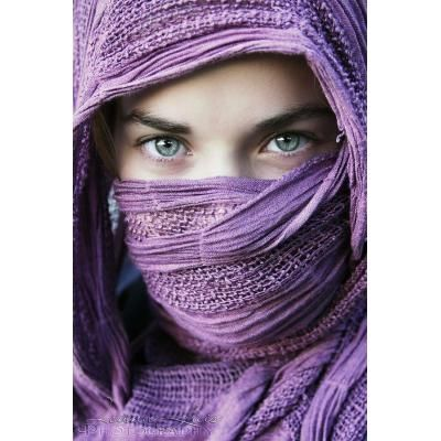 Persian girl in niqab eyes at different angles