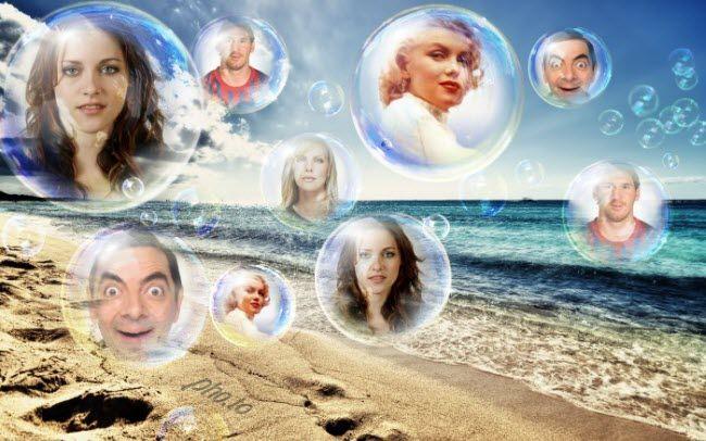 Collage de burbujas