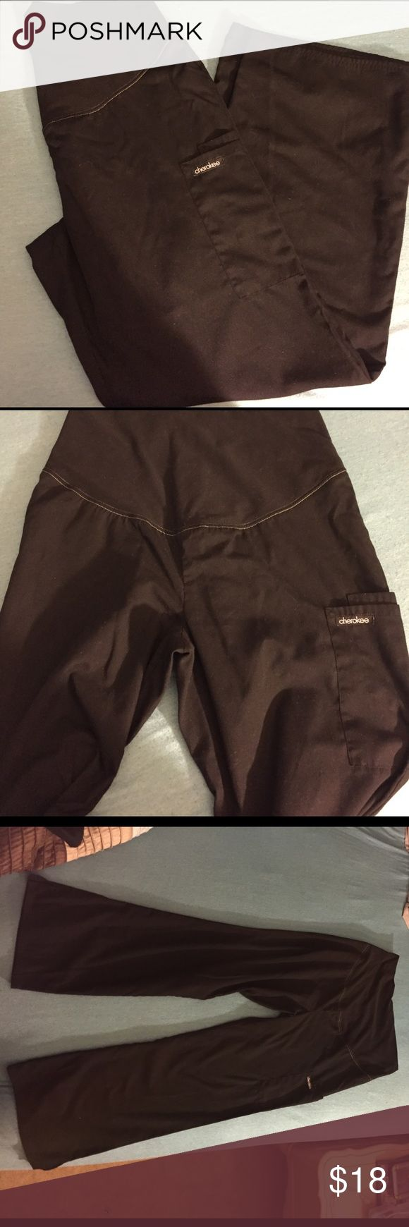 Size small maternity scrub pants Cherokee brand size small maternity scrub pants. In great condition. Pocket on the side and one on the back plus the stretchy belly band. Cherokee Pants