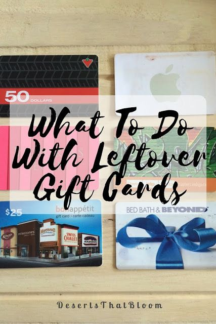 This links to a blog post about what to do when you have a bunch of leftover gift cards with unknown/minuscule balances!