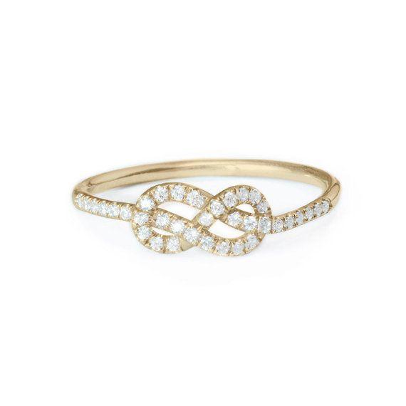 Petite Infinity Ring Diamond Wedding Band by SillyShinyDiamonds