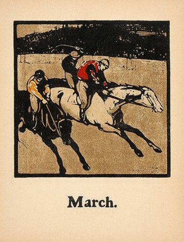 NICHOLSON, William. March [racing]. #sports #racing #vintage #horse