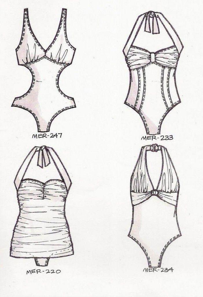 Laura Volpintesta, Line Sheet by Laura Volpintesta of Fashion Illustration Tribe Online Fashion Courses