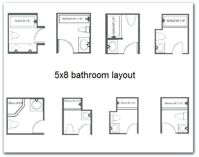 5x8 Bathroom In 2020 Small Bathroom Layout Master Bathroom Layout Bathroom Layout
