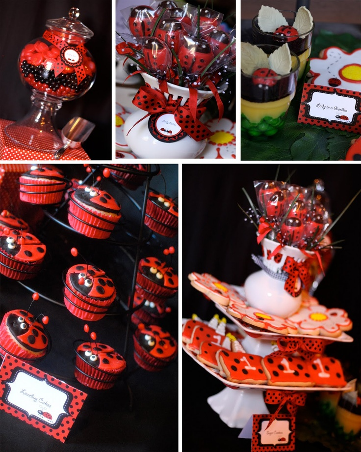 Paper Princess Studio: A Special day for our Lil Lady #ladybug #birthdayparty #babyshower  Baby Shower ideas for girls; 1st Birthday Party supplies